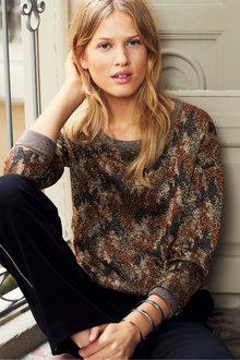 Next Camo Drawstring Sweater