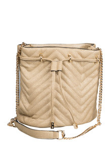 Next Gold Quilted Duffle Bag