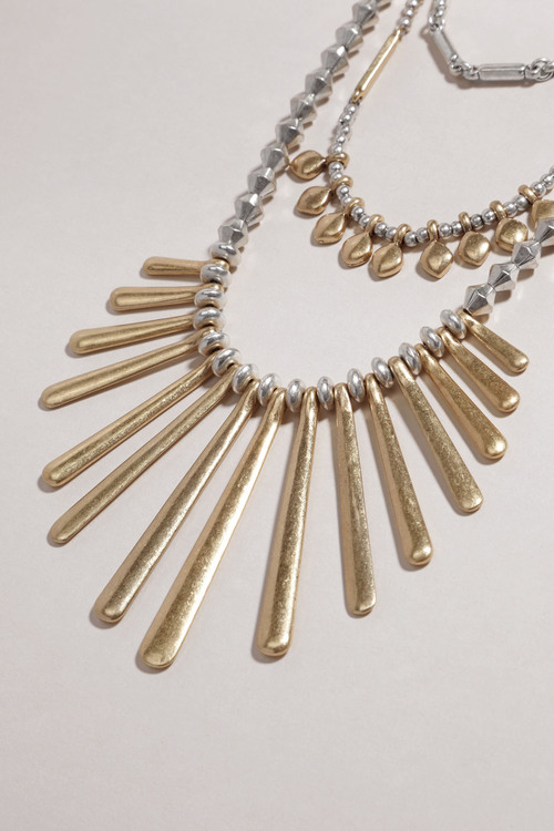 Next Silver/Gold Tone Layered Necklace