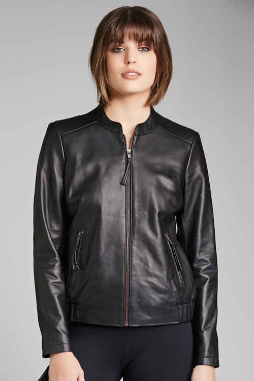Emerge Leather Bomber