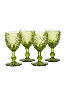 Faraway Land Glass Goblets Set of 4