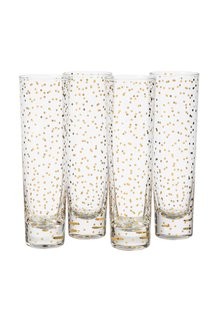 Faraway Land Confetti Stemless Flutes Set of 4