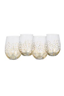 Faraway Land Stemles Wine Glass Set of 4