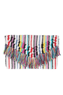 Rainbow Embroidered Clutch