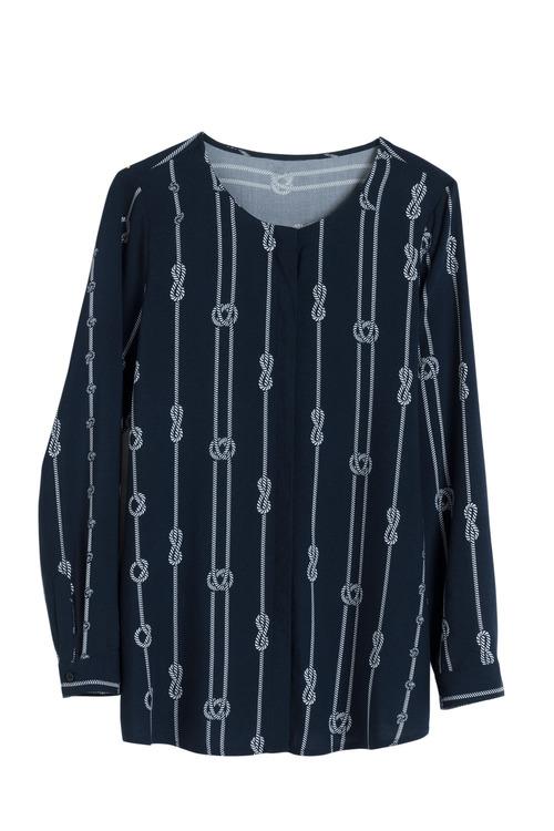 Euro Edit Knot Print Shirt