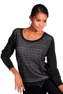 Euro Edit Textured Sweater