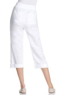 Capture Linen Pull On Crop Pant