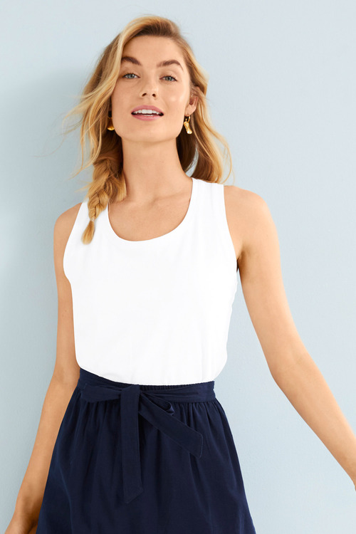 Capture Cotton Elastane Rib Tank