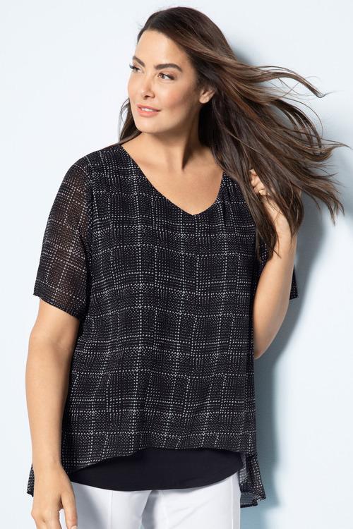 Plus Size - Sara Printed Layer Tunic