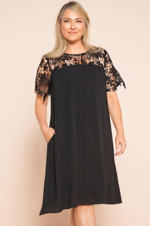 Sara Lace Yoke Swing Dress Online   Shop EziBuy