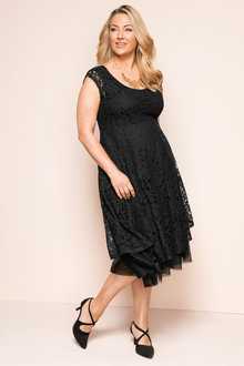 Plus Size - Sara Stretch Lace Fit n Flare Dress
