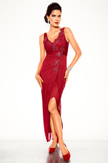 Heine Lace and Sequin Detail Evening Dress