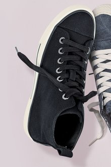 NX EF Canvas High Top Trainers