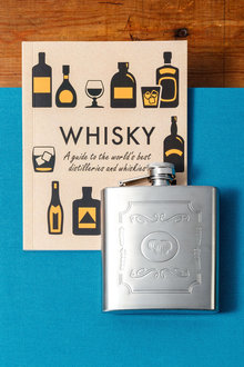 Whiskey Book and Flask Set