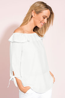 Capture Off Shoudler Woven Top - 182084