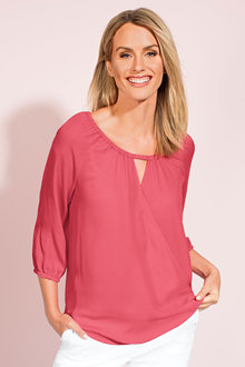 Capture Cross Front Woven Top