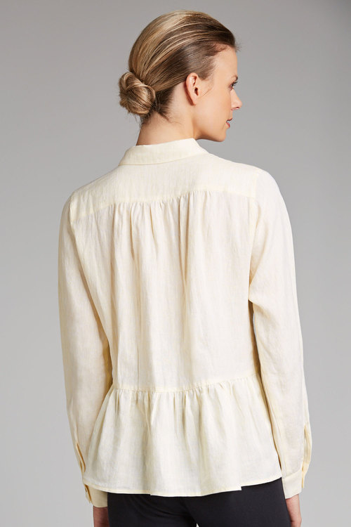 Capture Linen Peplum Shirt