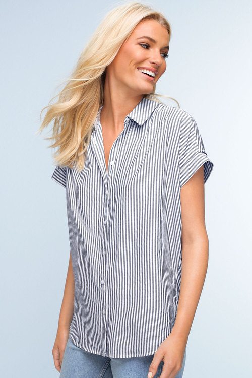 Emerge Knot Front Shirt