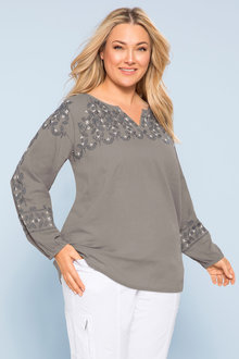 Plus Size - Sara Beaded Top