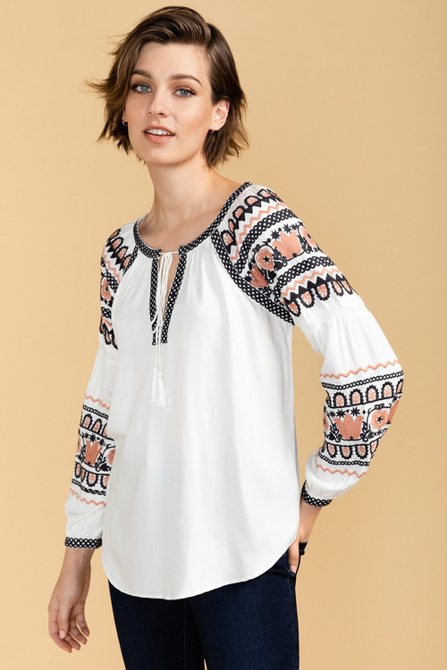 Emerge Embroidered Top