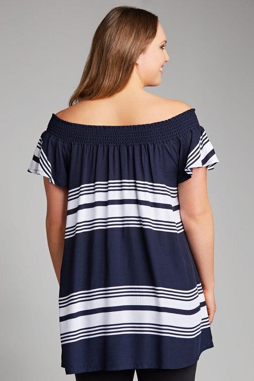 Plus Size - Sara Off The Shoulder Top
