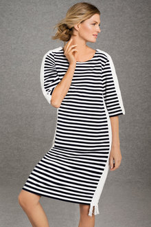 Grace Hill Stripe Trim Dress