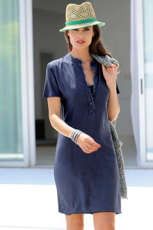 Euro Edit Casual Shift Dress