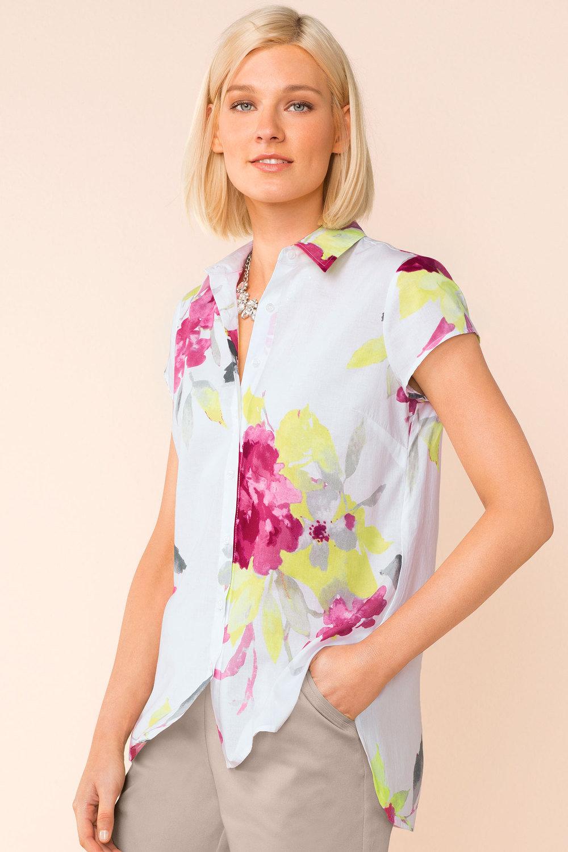 570a776b1f42 Capture Longline Cotton Voile Shirt Online