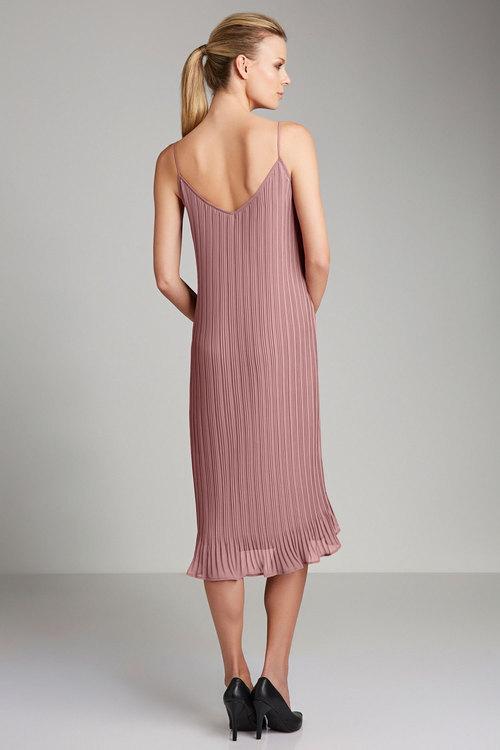 Grace Hill Lace Trim Pleat Dress