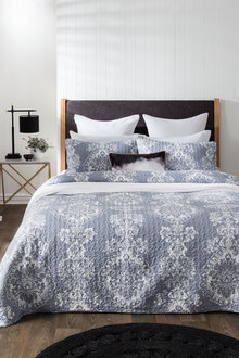 Damask Bedcover Set
