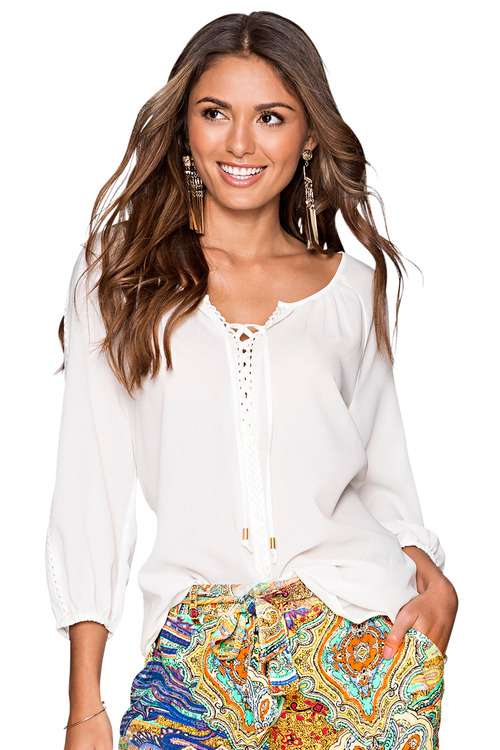 Urban Lace Up Blouse