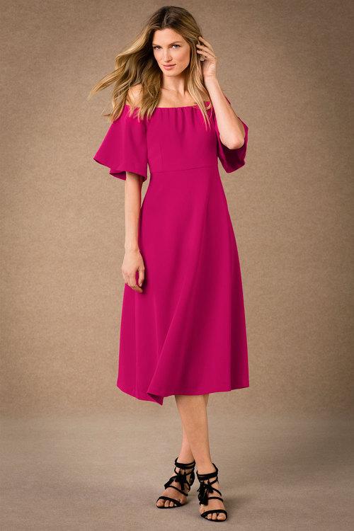 Grace Hill Off Shoulder Dress