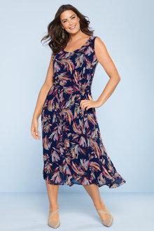 Plus Size - Sara Sleeveless Tea Dress
