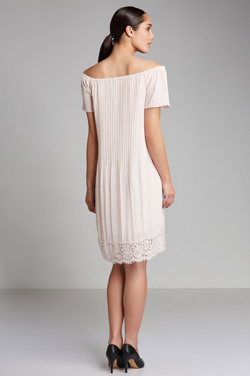 Grace Hill Pleat Dress with Lace