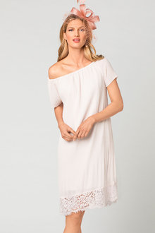 Grace Hill Pleat Dress with Lace - 182525