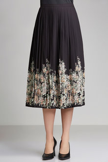 Grace Hill Pleat Print Skirt