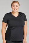 Plus Size - Isobar Active Plus Contrast Mesh Panel Tee