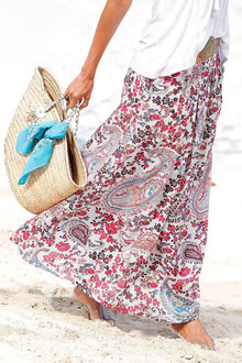 Urban Printed Maxi Skirt