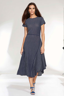 Euro Edit Striped Knit Dress