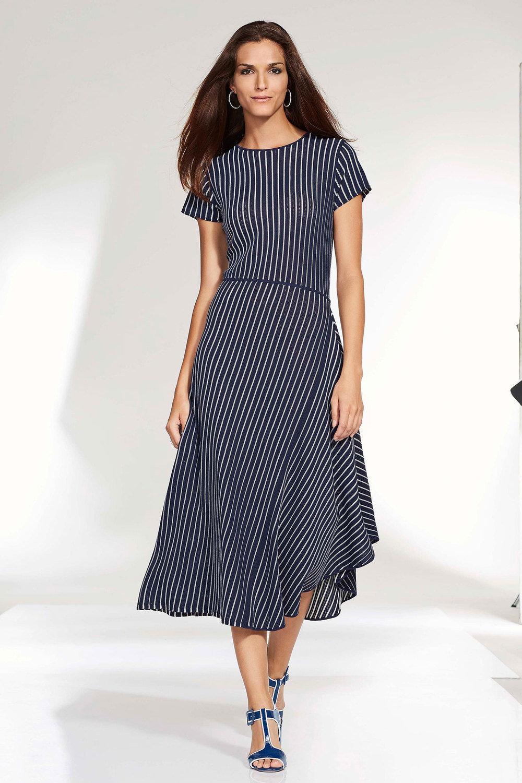 b18be4f1dd Euro Edit Striped Knit Dress Online