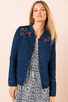 Capture Denim Jacket with Embroidery