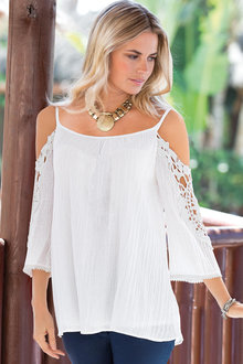 Together Cold Shoulder Top