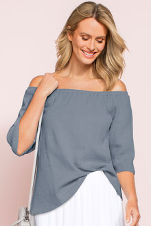 Capture Off The Shoulder Crushed Top