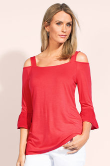 Capture Cold Shoulder Tee