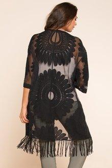 Plus Size - Sara Embroidered Kimono
