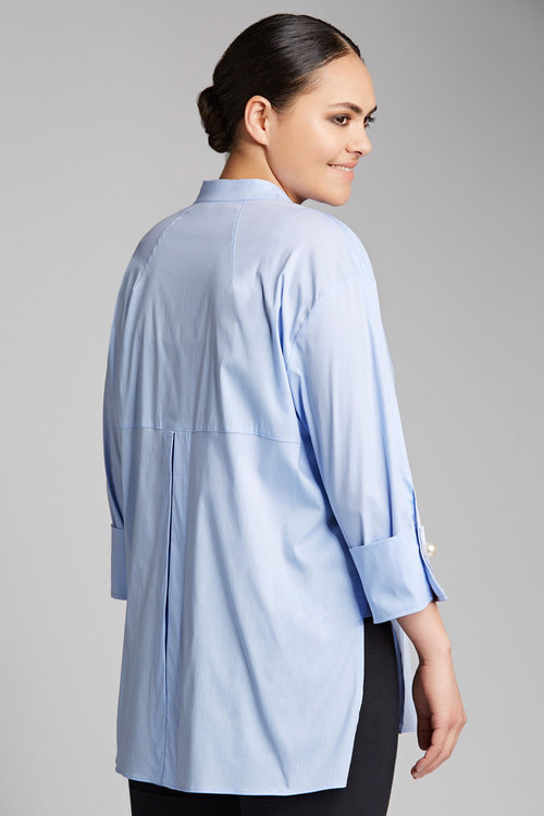 Plus Size - Sara Pearl Detail Shirt