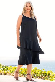 Plus Size - Sara Ruffle Slip Dress
