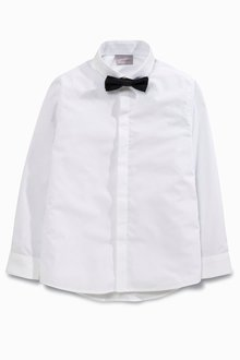 Next Long Sleeve Shirt And Bow Tie (3-16yrs)