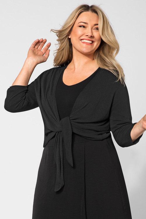 Plus Size - Sara Tie Bolero Cardigan