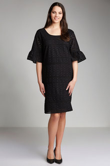 Plus Size - Sara Broderie Shift Dress